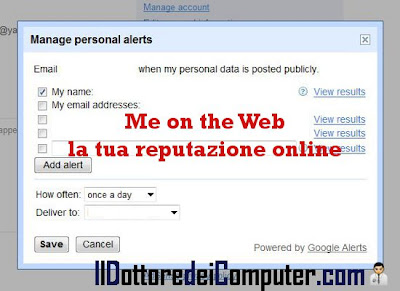 me on the web la tua reputazione online