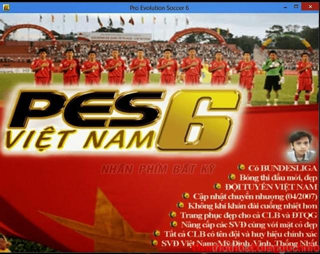 Download PES 6 Đồng Như Kiều update 2016 mới nhất