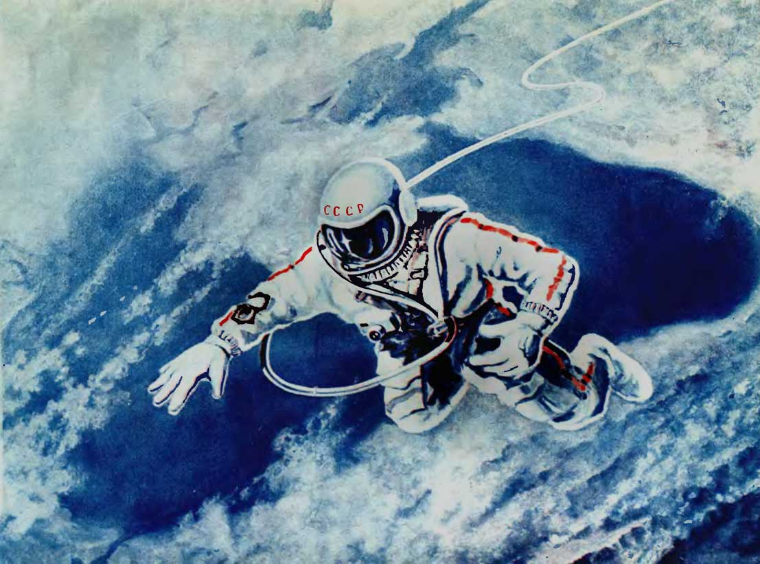 Alexei Leonov, el hombre que dio el primer paseo espacial  Ilustracion+leonov+cosmonauta+urss