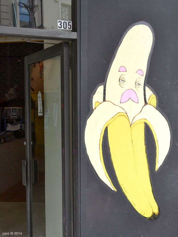 a banana where the crumpler store used to be