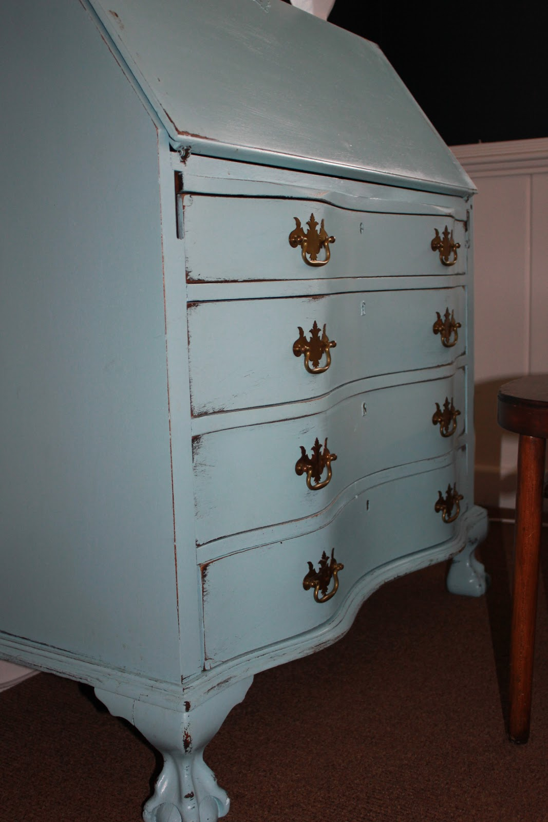 westhton diy robin s egg blue painted desk