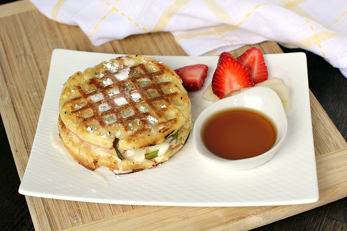 grilled cheese sandwich enter the waffle grilled cheese sandwich
