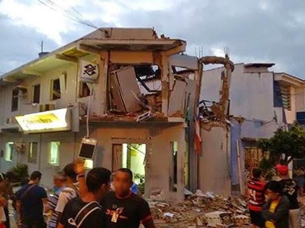 Explosão a banco destrói agência em Andorinha, na Bahia. (Foto: Arquivo Pessoal)