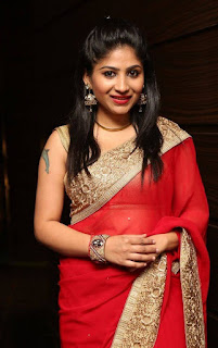 Madhulagna Das Latest Pictures in Red Saree ~ Celebs Next