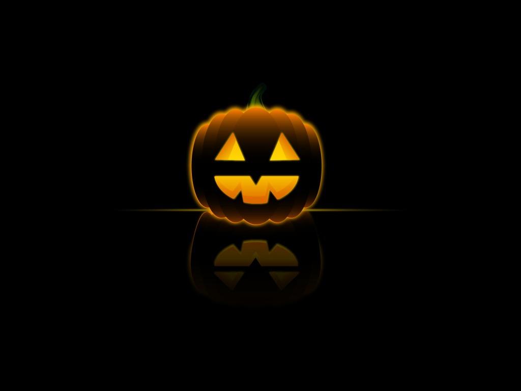 Sretan vam Noć vještica, svjetleća Halloween bundeva - download besplatna poz...