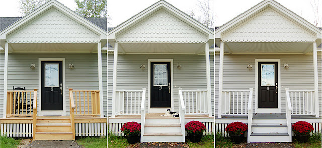 Front porch gray paint DIY