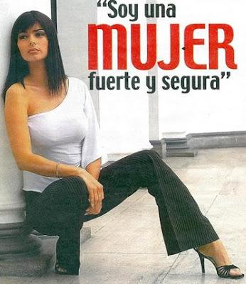 Mónica Chacón dice ser una mujer fuerte y segura