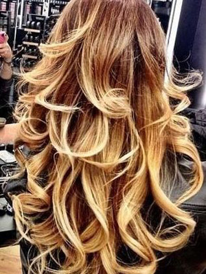 Pelo puntas de colores peinados 2014