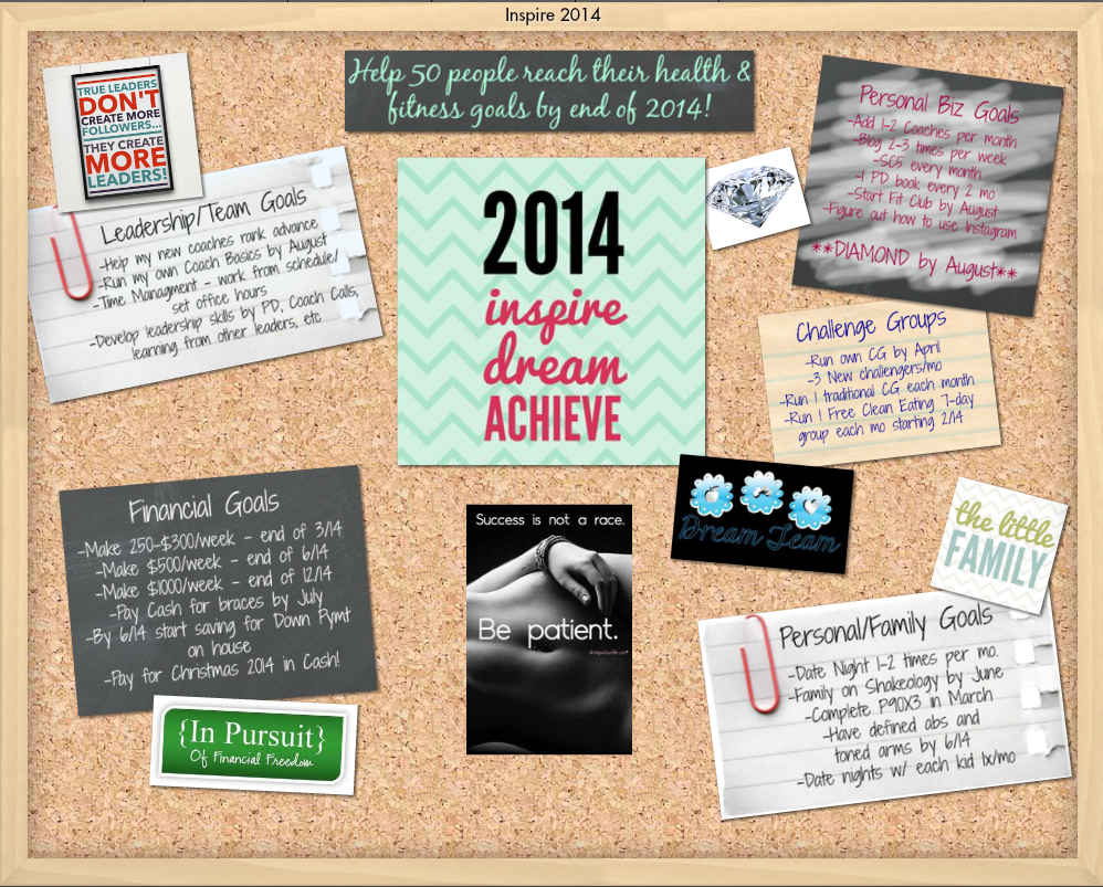 Dream Board 2014, www.HealthyFitFocused.com