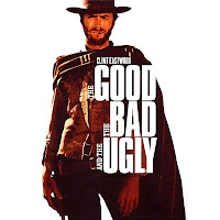 "Movie ad for the film, ""The Good, the Bad and the Ugly""."
