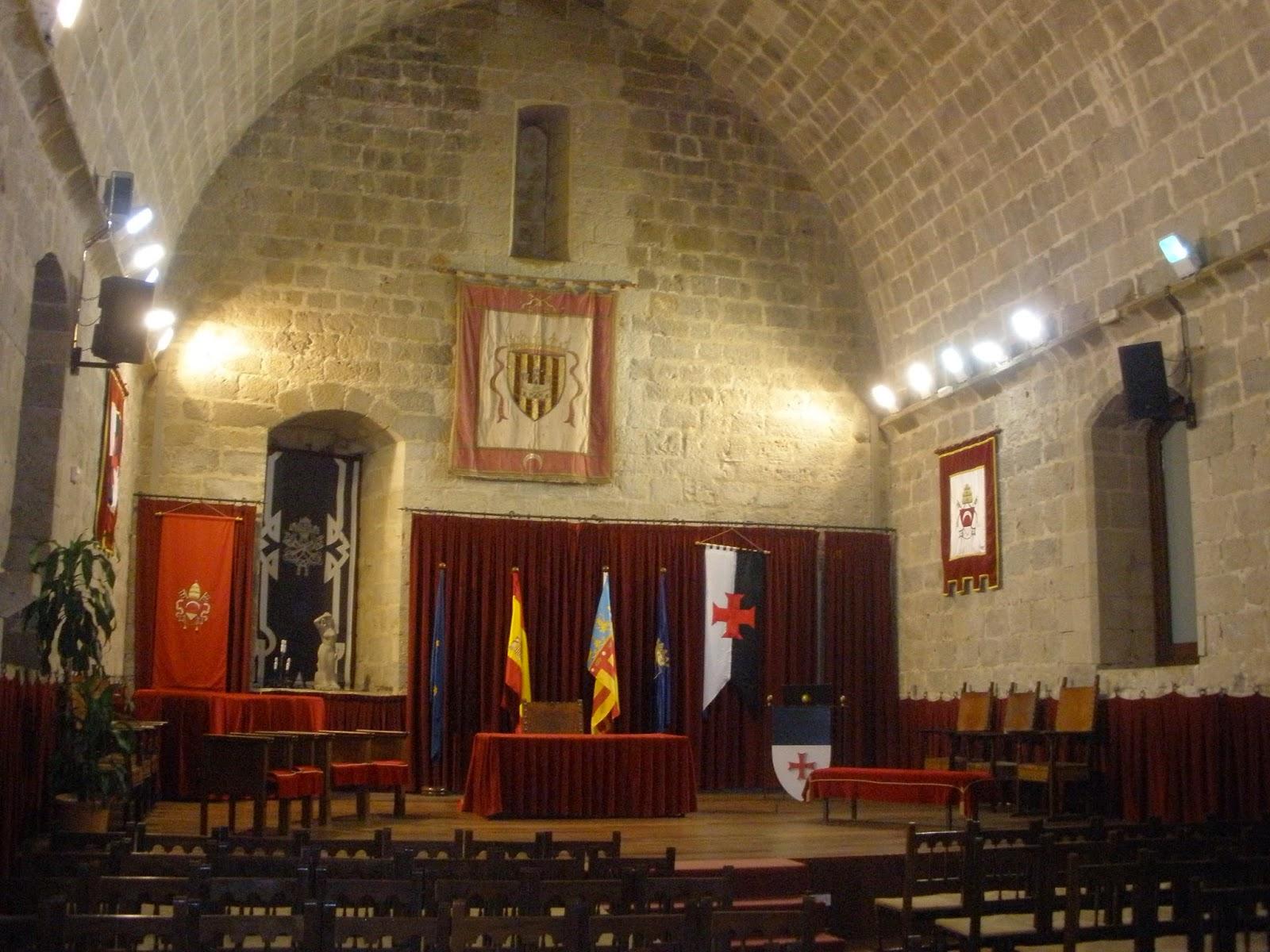 Salón Gótico del Castillo de Peñíscola
