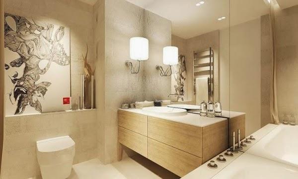 Baños Beige Con Blanco:Las combinaciones con colores neutros como el beige y blanco, dan al