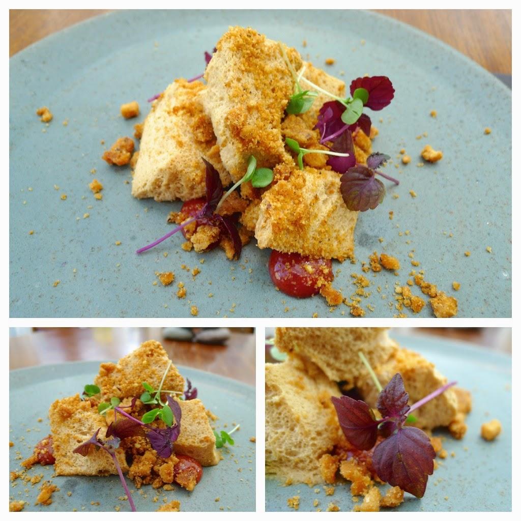 Honeycomb, poachedquince, walnut and perilla