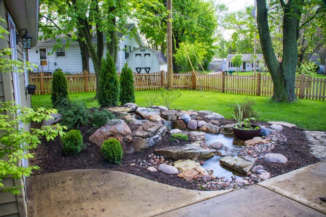 The Couple Added A Fence To The Yard But Didnu0027t Realize Their Dreams Of An  Outdoor Retreat Until The Addition Of A Beautiful Pondless Waterfall!