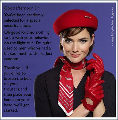 Femdom air stewardess gloves and an attitude