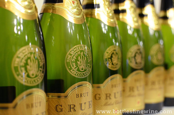 logo engraving champagne bottles