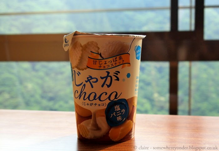 Chocolate covered crisps - Japan