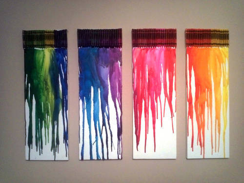 DIY Wall Art: Melted Crayon Canvases - College Gloss