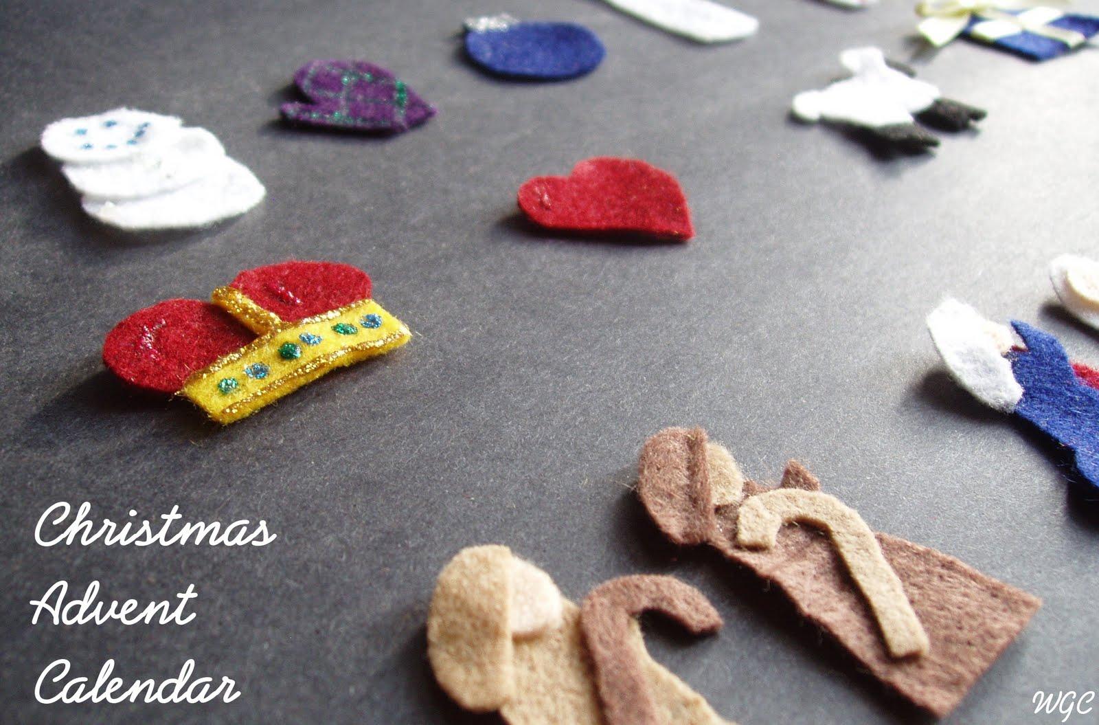 Wayward Girls' Crafts: Christmas in July: Felt Advent Calendar