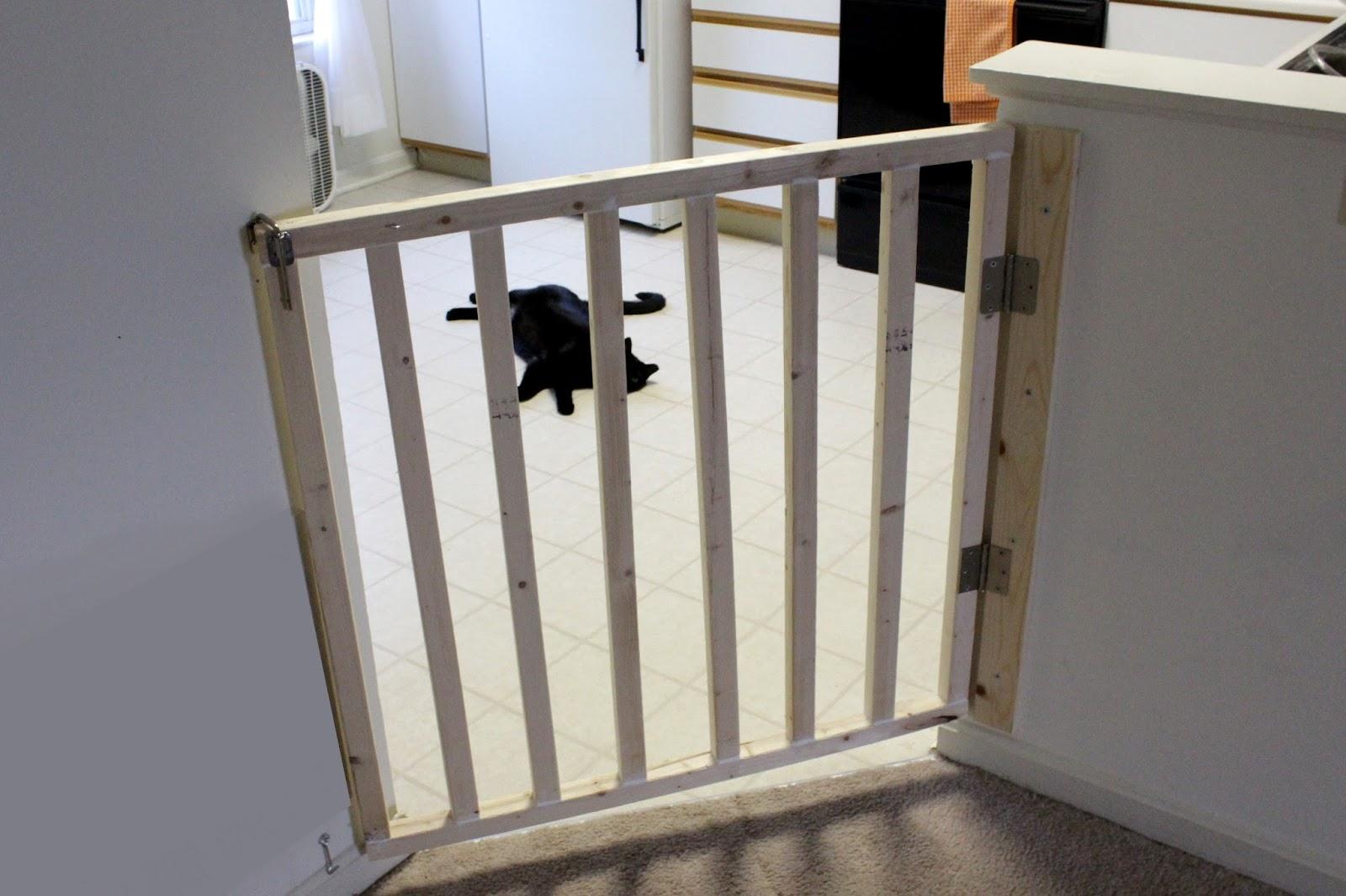 DIY   Angled Dog Gate - Allison Affourtit