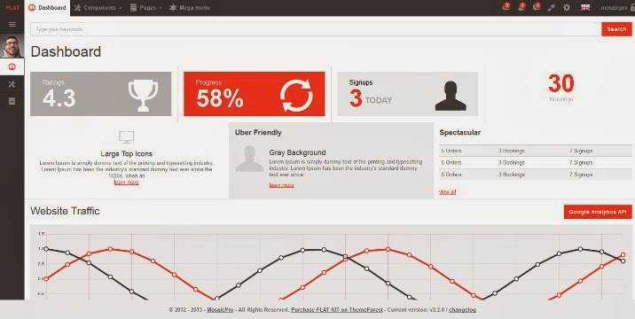 FLAT KIT - Premium Bootstrap 3 App Template
