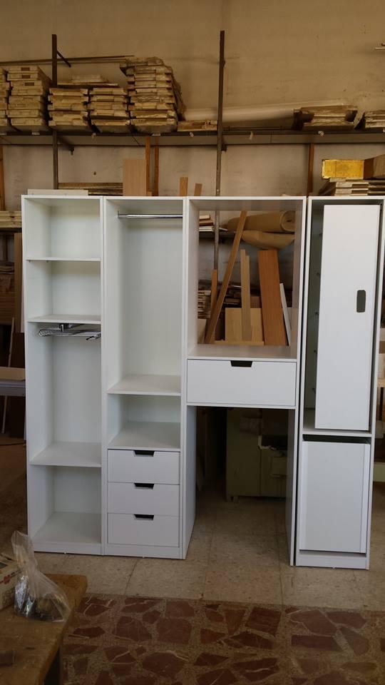 Madera y mueble mueble para lavadora secadora for Mueble para lavadora
