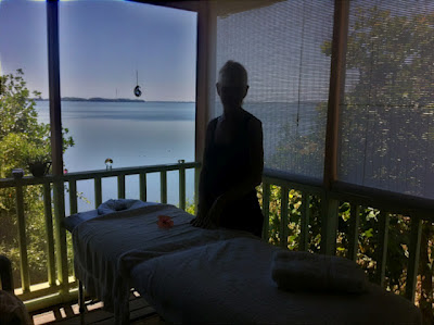 McKinley and Natalie Pritchard get a Massage Overlooking The Lagoon in Maya Beach Belize