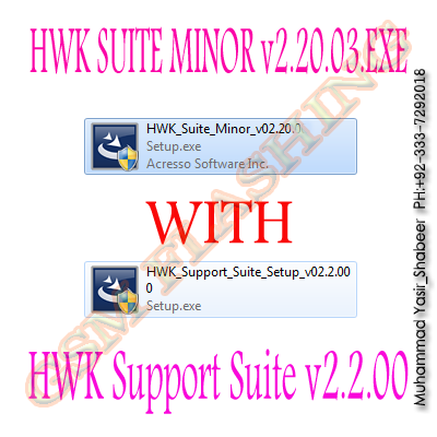 HWK Suite Minor v02.20.003 NEW Setup & HWK Support Suiten Setup v02.20