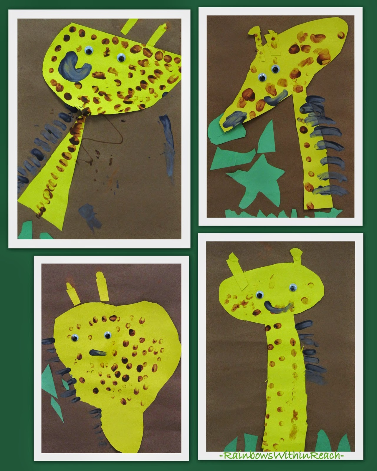 Continuum from 'Craftivity' to Authentic Art: Child Created Giraffe Paintings at RainbowsWithinReach