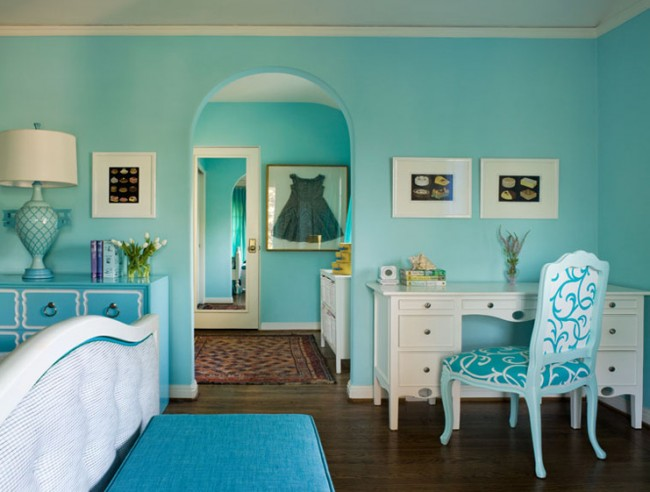 The Fine Living Muse Tiffany Blue And Teal Blue Rooms