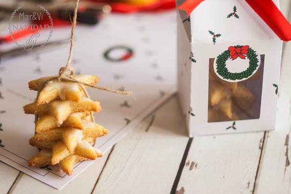 Cajas para galletas navideñas para imprimir gratis