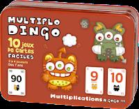 10 jeux de multiplication avec Multiplodingo