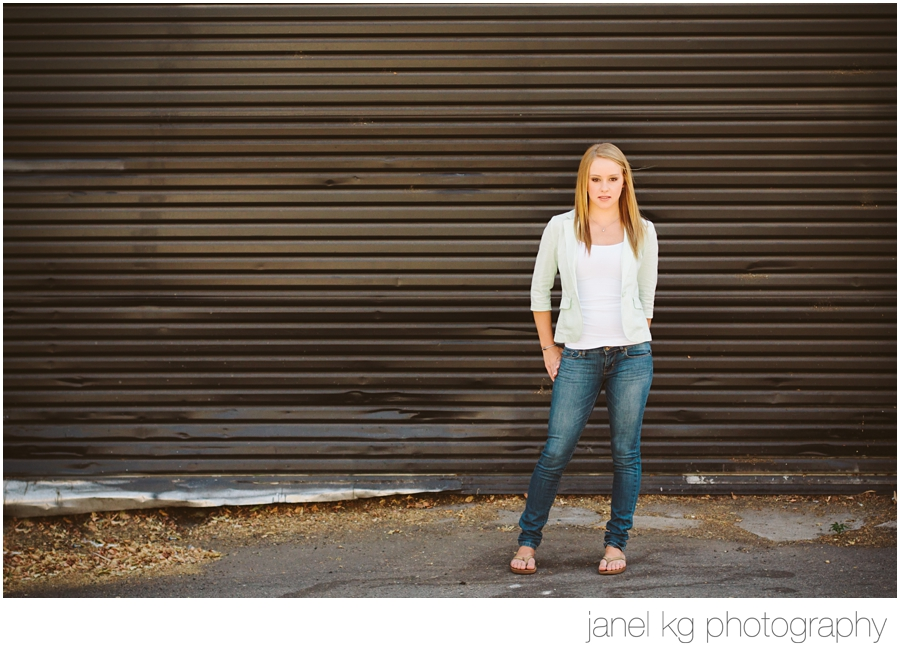 Audrey looking fierce for her downtown Sacramento senior portrait shoot with Janel KG Photography