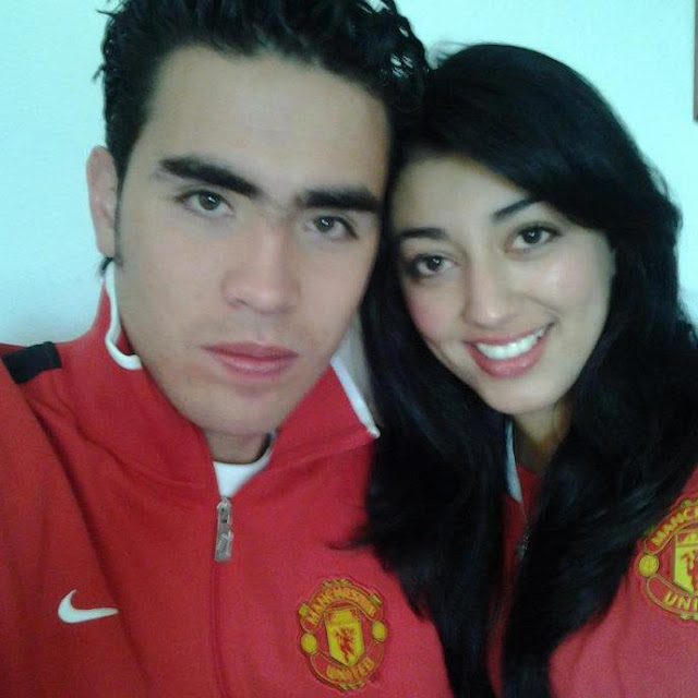 Manchester United fans from Colombia