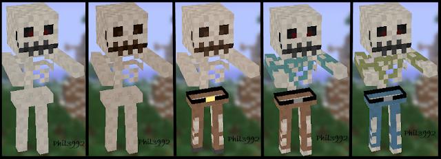 Esqueletos con las texturas del paquete Phil3992