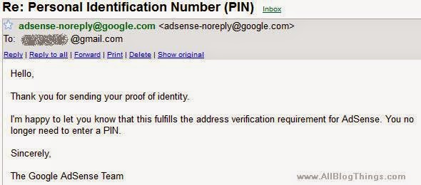 Personal Identification Number (PIN)