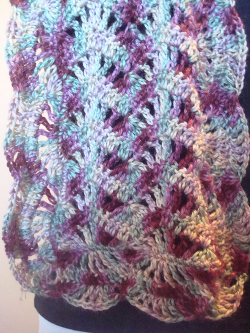 Crochet Pattern Ripple Shawl : GoCrochet: Fiesta Ripple Scarf is available!