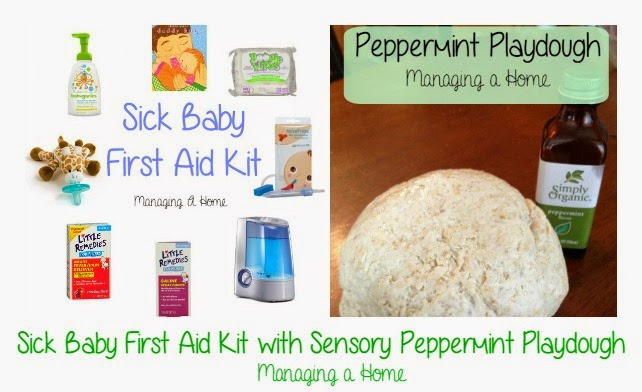 Sick Baby First Aid Kit & Peppermint Playdough