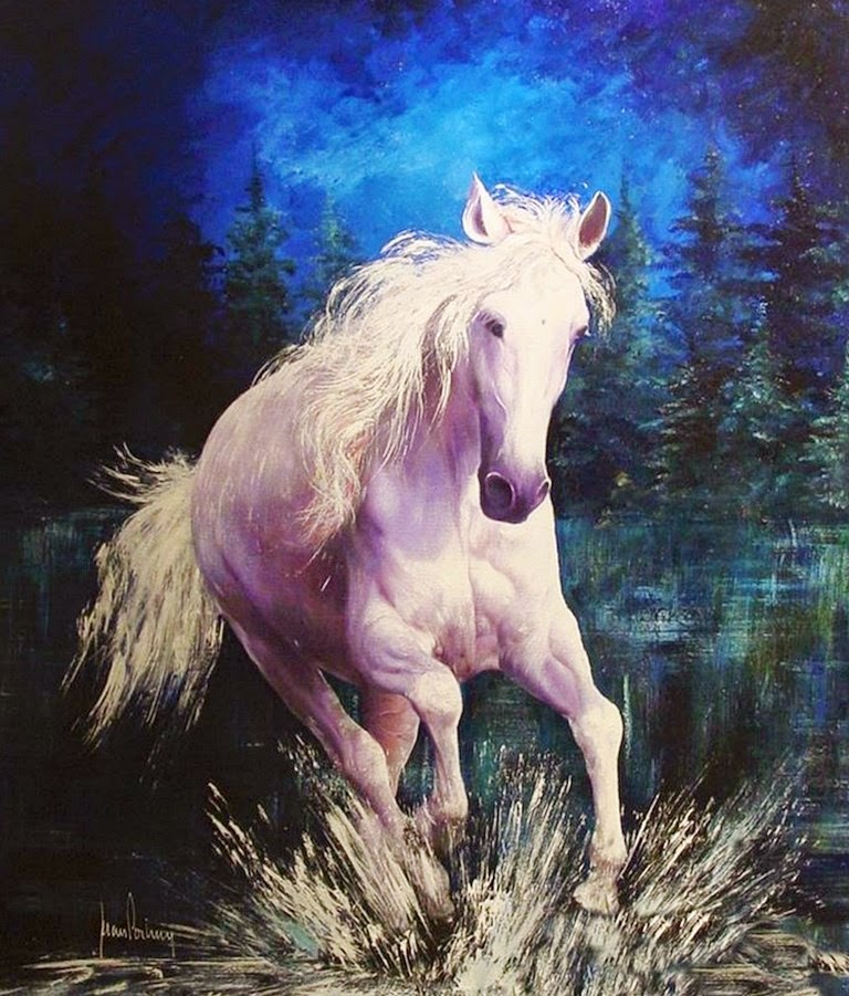 cuadros-de-caballos-corriendo-en-el-agua