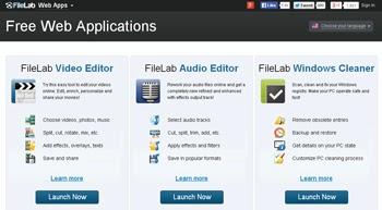 Editar audios y videos en la nube con FileLab