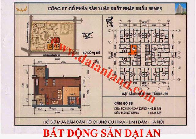 Căn hộ số 38 - Chung Cư HH4A Linh Đàm