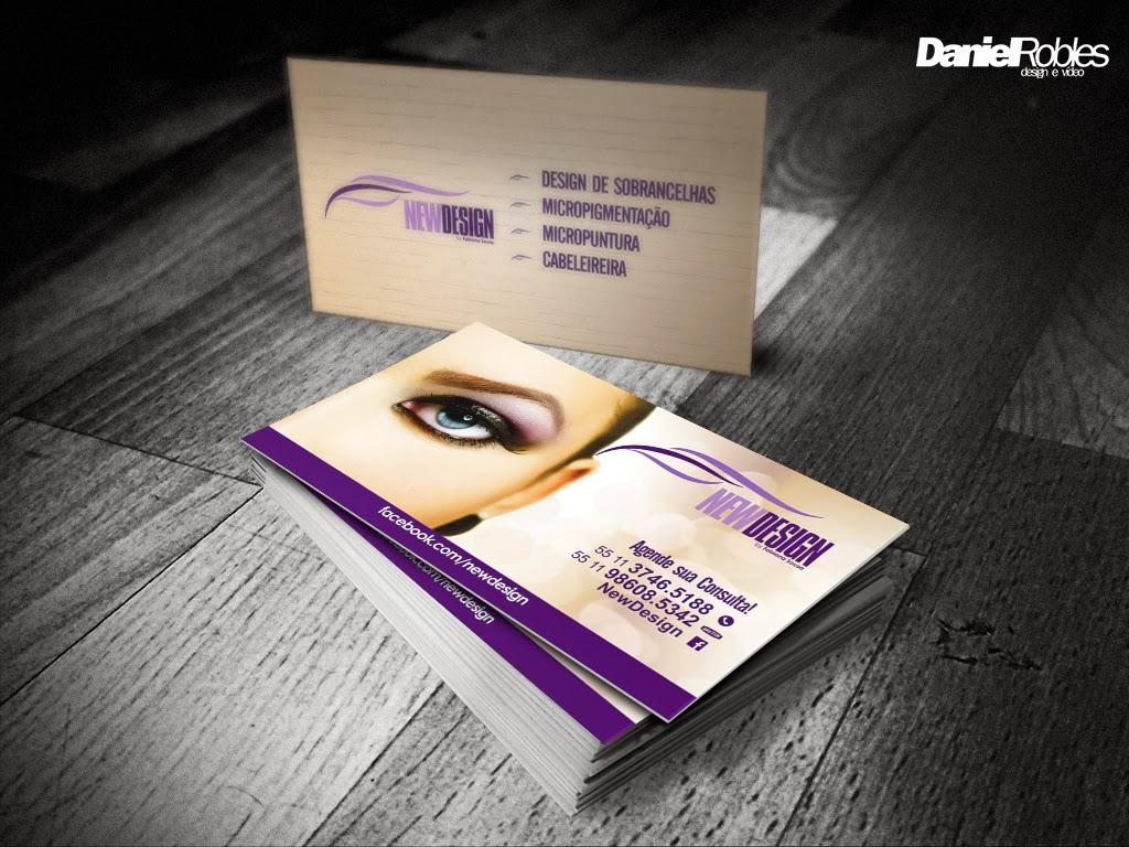 Fabuloso Cartão de visita design de sobrancelhas - Daniel Robles Multimidia  TV56