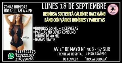 LUNES 18 DE SEPTIEMBRE DE 11 AM A 4 PM FIESTA SW CON HERMOSA SOLTERITA CALIENTE EN KENNEDY