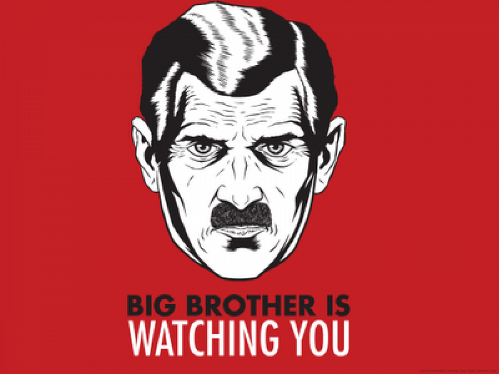 1984 big brother is watching y Big brother is watching you: is america becoming orwell's nightmare by stephen rohde january 30 at present, in 1984.