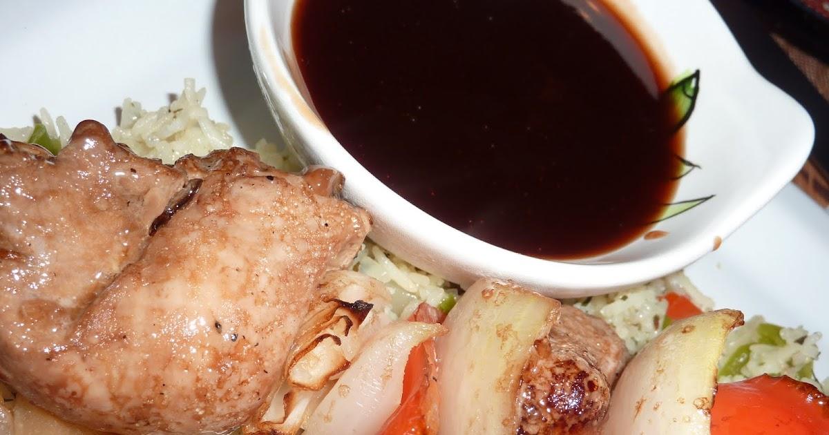sauce pour accompagner brochette de poulet