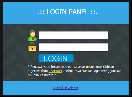 login - Aplikasi Pegawai Berbasis Web