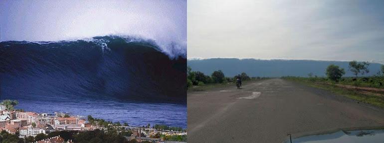 1)Зловещая внезапность появления цунами.