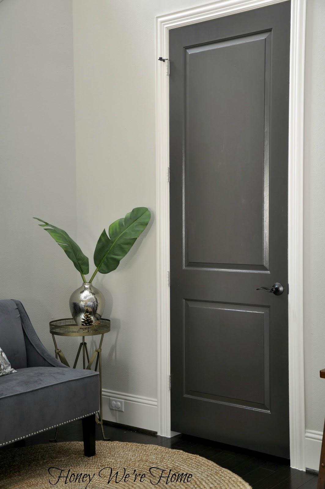 black gray painted interior doors honey we 39 re home. Black Bedroom Furniture Sets. Home Design Ideas