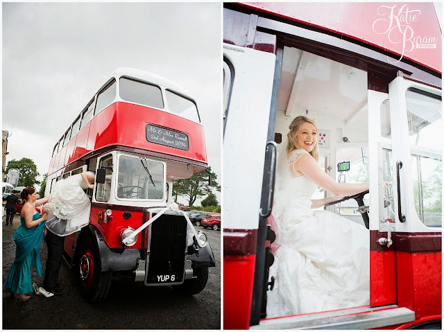 vintage wedding bus, rainy wedding, high house farm brewery, northumberland, high house farm wedding, katie byram photography, healey barn, newcastle wedding photographer, coco luminaire