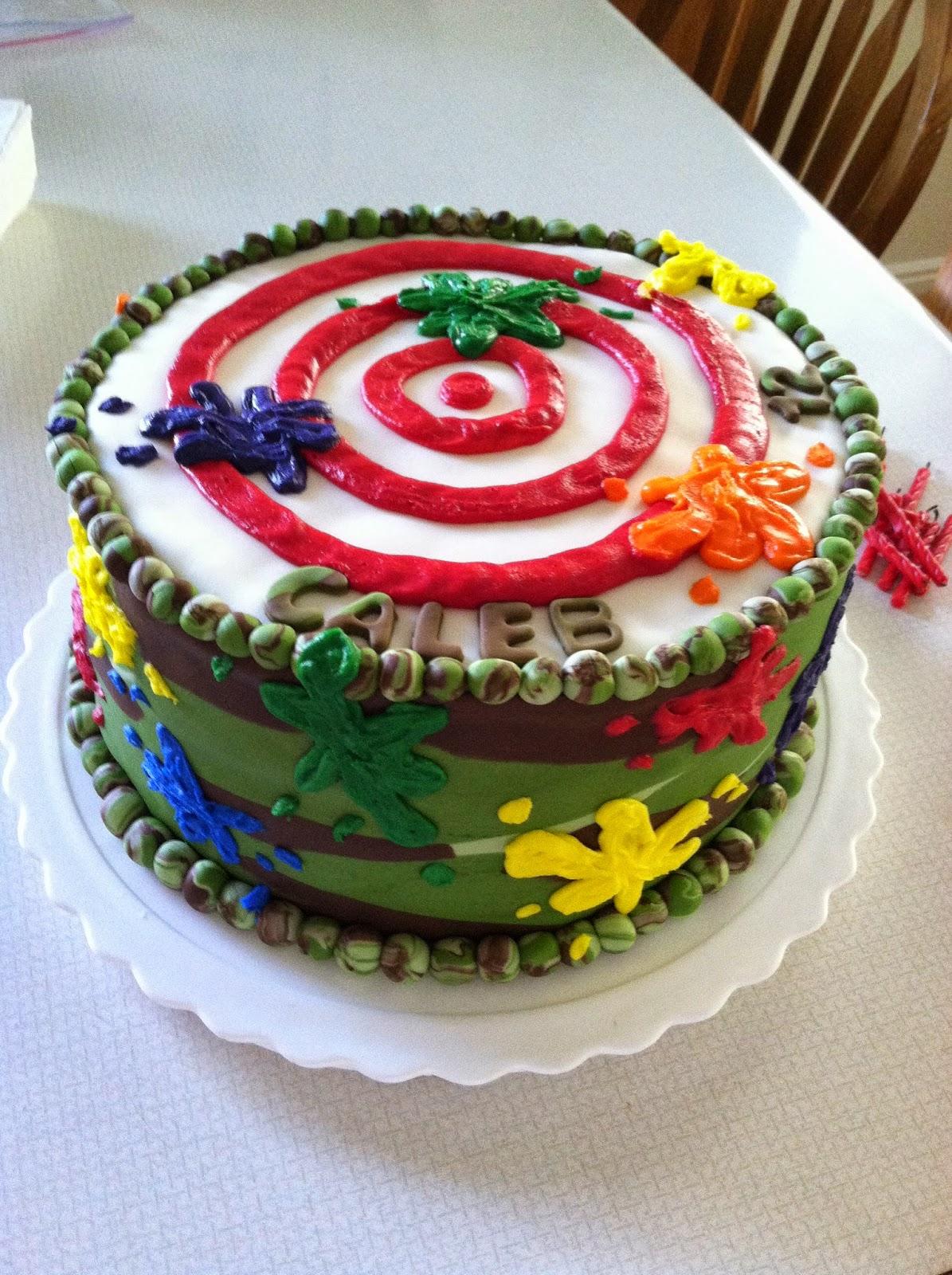 Soccer Ball Cake Design : Creative Cakes By Angela: Paintball and Camo Cake